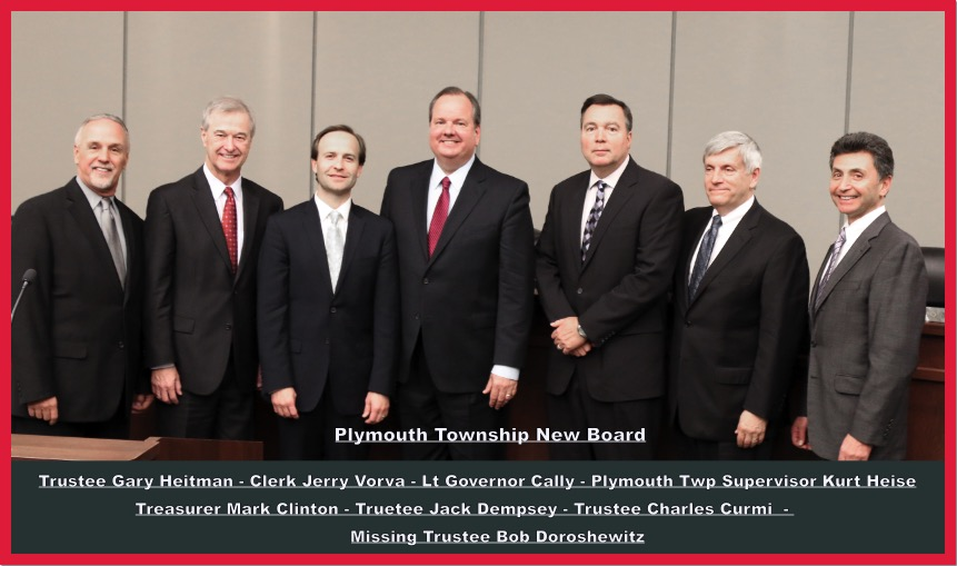 Plymouth Township swearing in new officers